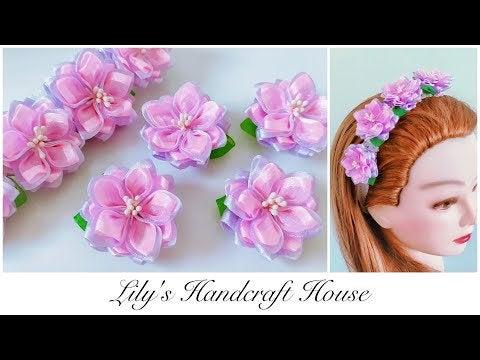 35y3kZvYaaufOd wQkpGPa716oyRYvsb2NrC HedCI - DIY organza flower headband 🌺🌺 - hobbies, crafts