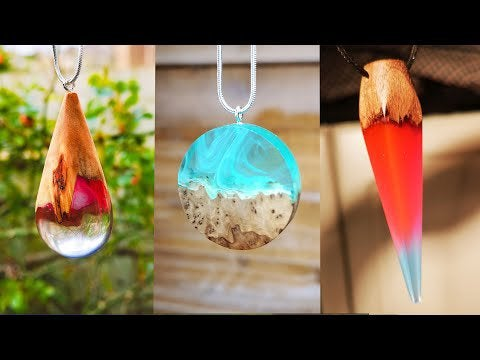 PpFKwtc32cUMUWlKjh QA2x Crs2sqqTXeyqOTrB0kQ - Epoxy Resin DIY Ideas. 3 Amazing Jewelry with Resin and Wood | Resin Pendants - Resin Art - home, hobbies
