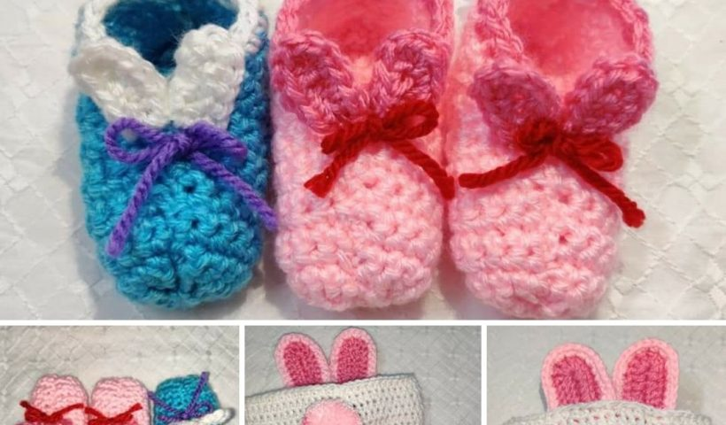 dshm3poc09o41 820x480 - I made a matching baby booties and headband set for Easter 😁they have bunny ears and a tail 😁 - hobbies, crafts
