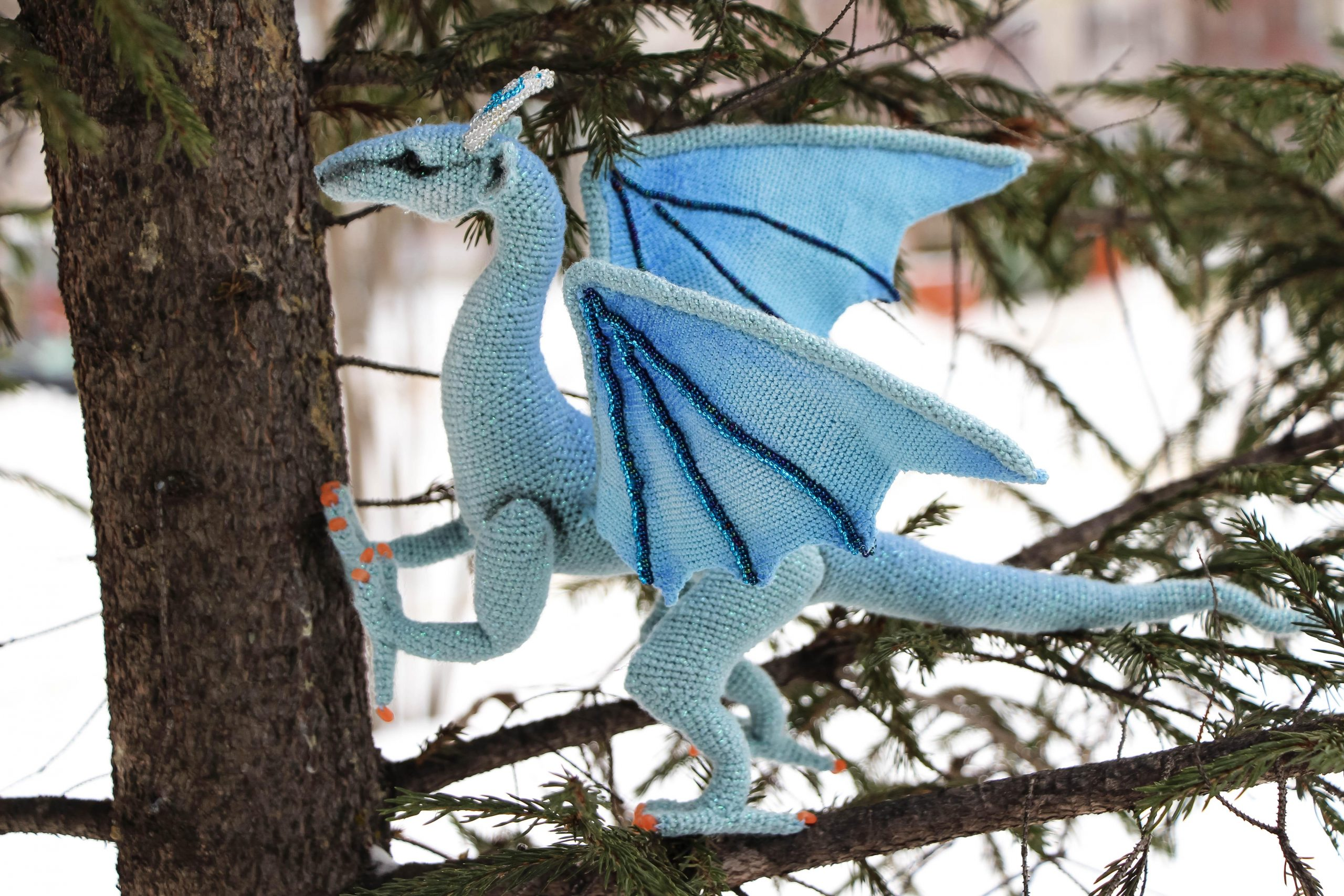nezgheshg1o41 scaled - I crocheted this dragon for about a month! I like him very much. - hobbies, crafts
