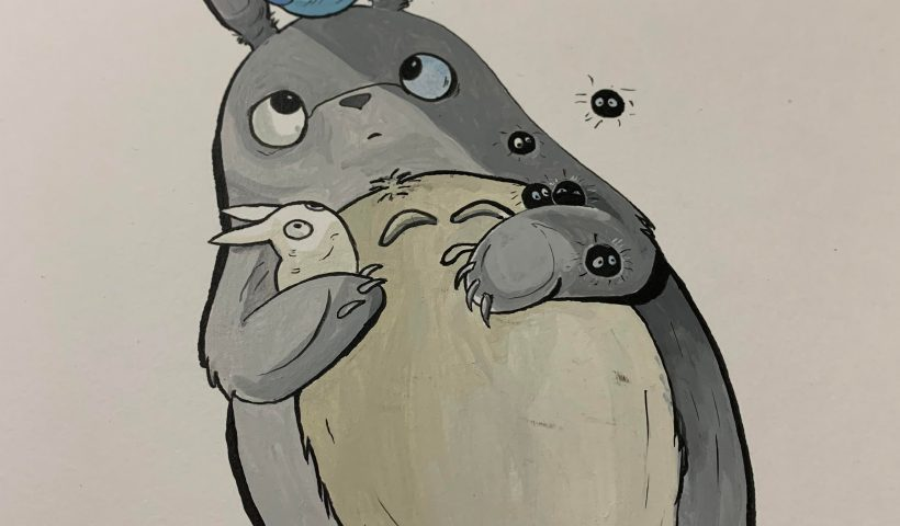 rpxh3hx2j9l41 820x480 - I painted an acrylic Totoro. - hobbies, crafts