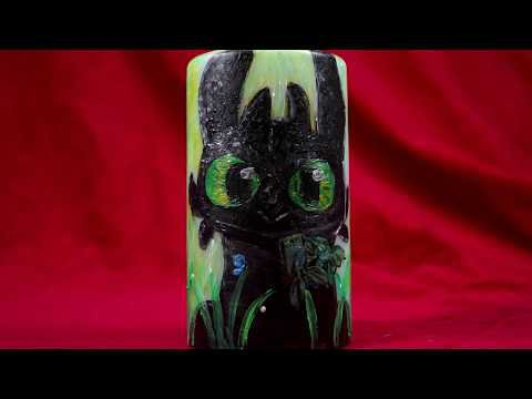 yN3zNPFVOCIywUwzlYkQS4x 8L3rCzgr49uDe1LCK4Y - What do you think of the Toothless candle I painted recently? - hobbies, crafts