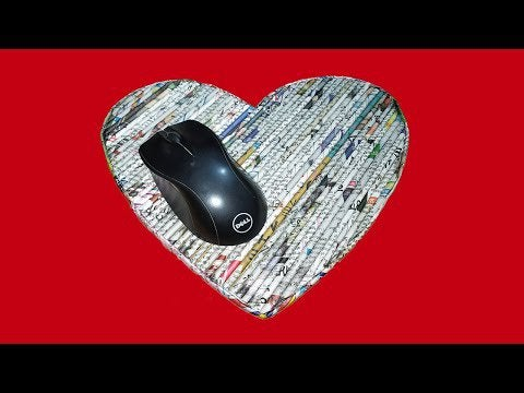 zXmY l1VVgey pTnWup2Wl2uVANVmNpi3EydVRE UQY - DIY Mouse Pad from Newspaper at home | Waste Material Craft Ideas - home, hobbies