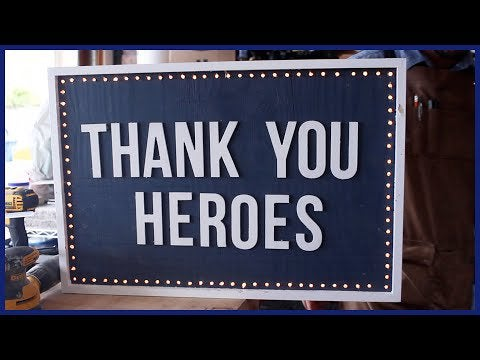 5peQxpmQh1Aq34RIBXj4P6emWTlIPQvTOV0Hwcpe3cc - How To: #BuildThanks; Thank You Sign for Medical Workers & Essential Workers: DIY Woodworking - home, hobbies