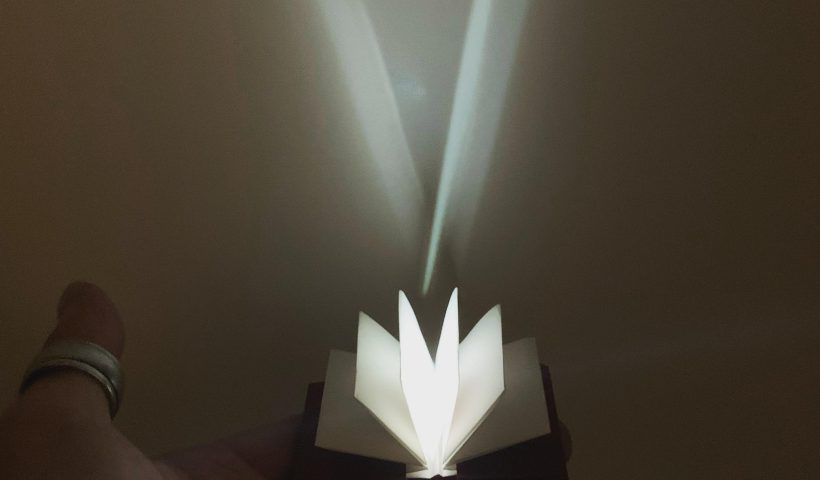 6yzs199y03v41 820x480 - Origami Hardcover book with integrated LEDs. Folded from two sheets, book lights up when opened, turns off when closed. - hobbies, crafts