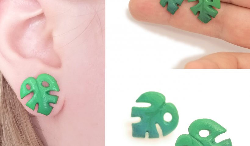 7k9i95azntq41 820x480 - I made some more plant earrings after the love on my last post <3 This time : Monstera - hobbies, crafts