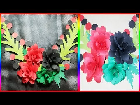 CltwV xeO1j28u3ON7tvKslFjfUeoyg  TtxD2zqSas - Handicraft Paper Flower Wall Hanging! DIY Wall Decor Ideas - hobbies, crafts
