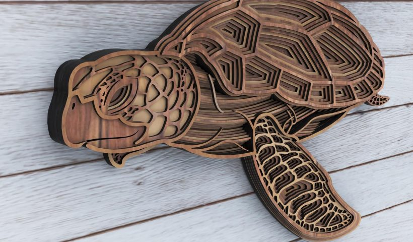 hgu5ttpbfwq41 820x480 - 2nd week in isolation. I made this Multilayered Marine turtle. - hobbies, crafts
