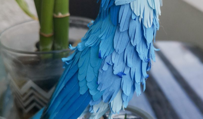 j06d8zcyoxn41 820x480 - A new paper bird: Mountain Bluebird for a lovely customer, hope you like it - hobbies, crafts