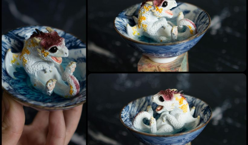 jpk4zpw6e0t41 820x480 - Koi dragonling sitting in a tea cup, crafted by me - hobbies, crafts