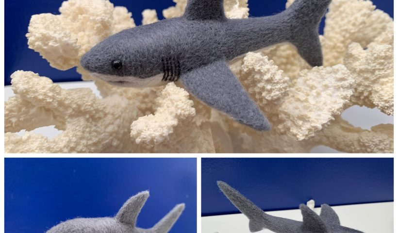 p2c758f5c0t41 820x480 - Needle felted (wool) Great White shark - hobbies, crafts