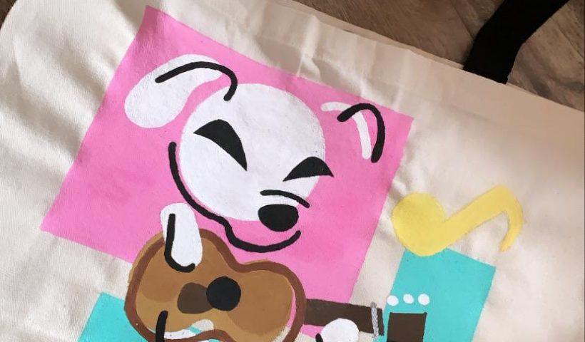 qmf44zlkn2v41 820x480 - painted kk slider on a blank tote bag!! - hobbies, crafts