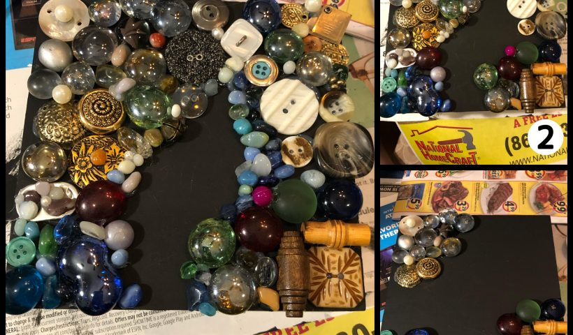 wlbk01vpzwq41 820x480 - got bored and remembered we had a hot glue gun so i found some buttons, marbles, etc. and made something very interesting :) - hobbies, crafts