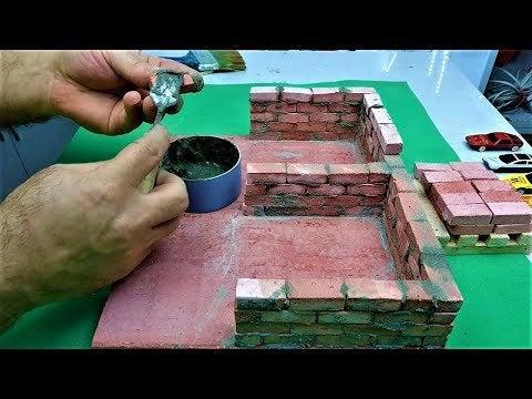 0tfjVqTXfFzo j2BgsJkxK2B1YUidBEWMTTdvodmE A - DIY Mini Car Garage - How to Build a Mini Garage with Mini Bricks - Bricklaying Model - Part 1 - home, hobbies