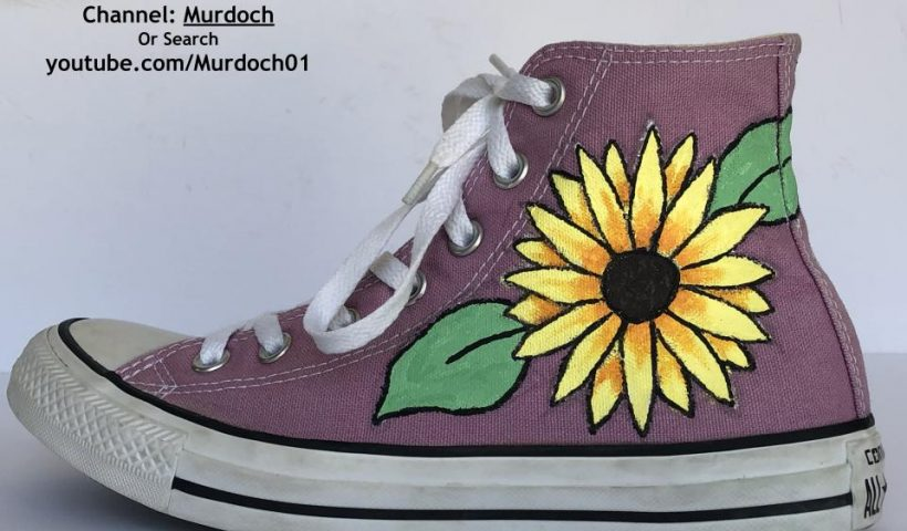 1pw9juuqf7v41 820x480 - Painted a custom pair of Converse to give away :) Hope you like it! - hobbies, crafts