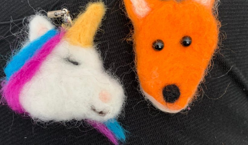 1t6c3q3pa8151 820x480 - Always wanted to try needle felting wool. Got some supplies and made these two charms. - hobbies, crafts