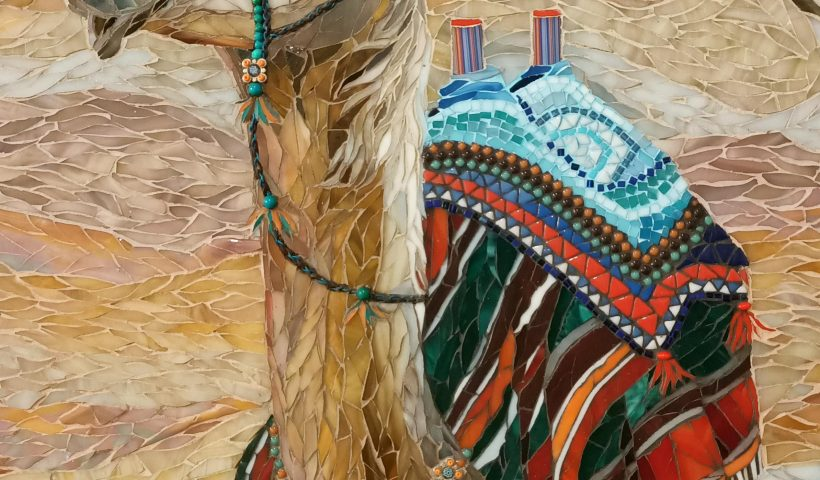 "3mqlz5i0c1w41 820x480 - I'm very proud of my mum. This is her newest mosaic. ""Camilla of the Desert"". - hobbies, crafts"