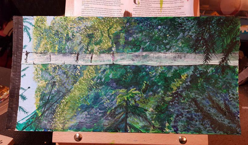 64dmsizdqcy41 820x480 - I painted Capilino Bridge - hobbies, crafts
