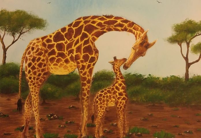 7rldcg9y59w41 697x480 - I painted this for my son. Giraffes are his favorite animals - hobbies, crafts
