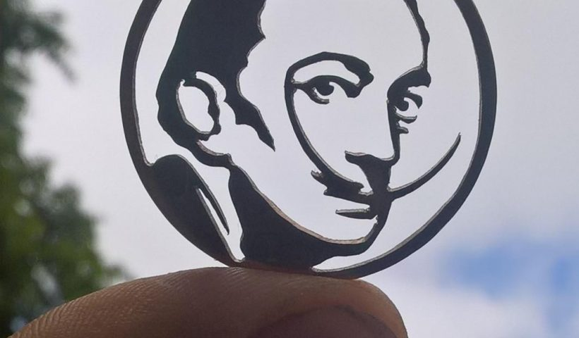 e7plk5f0j4y41 820x480 - As it's Salvador Dali's birthday today, I thought I'd share this - Hand cut from a Victorian penny :) - hobbies, crafts