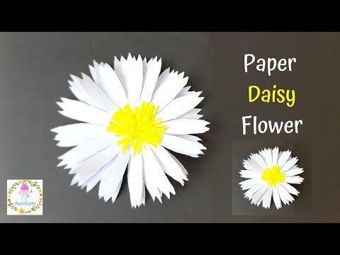 hCnhVTZEYq F4e8rtg71nS5BiKOqBI2Ggx7MM3Yl0aM - DIY Paper Daisy Flower Tutorial | Easy Paper Flower Ideas | Aureliarts - hobbies, crafts