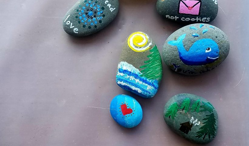 hdxiqmru7cy41 820x480 - Some kindness rocks I painted to hide during my daily walk. Hoping it makes at least one person smile :) - hobbies, crafts