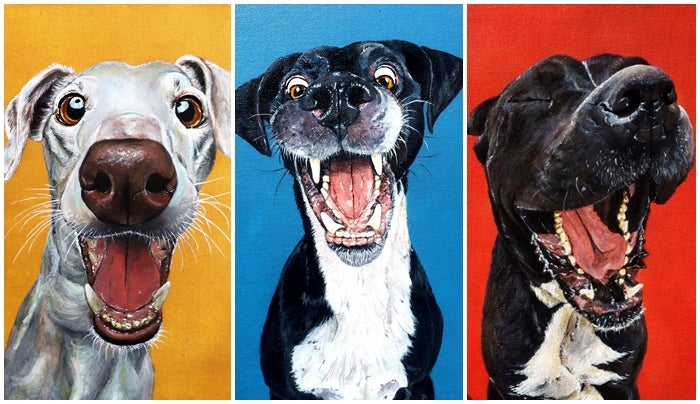 622l2desua751 - My happy puppies collection in acrylic on canvas - hobbies, crafts
