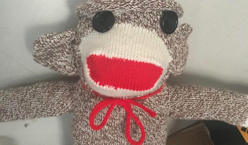 8dnjeo6mw8751 820x480 - I'm not much of a sewer, but my boyfriend wanted a sock monkey, so I did my best. He's lumpy and lopsided and the bf says he's beautiful. - hobbies, crafts