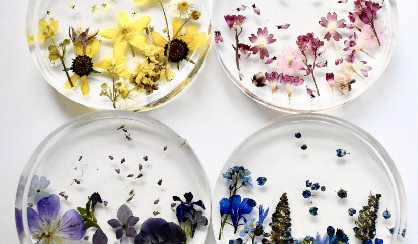 Iza GP4ut2XLyAEy7k5XYeHtNlEZQI4KTrX17uHX7BQ 820x480 - There are at least 25 different kinds of flowers preserved in these coasters! All grown either in my garden or near my home - hobbies, crafts