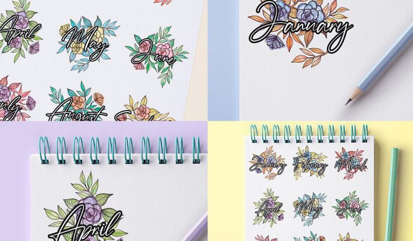 a4ygjhcz7c451 820x480 - Designed some month name graphics to print at home for journaling & scrapbooking etc 🌼🌸🌻🌺💐 - hobbies, crafts