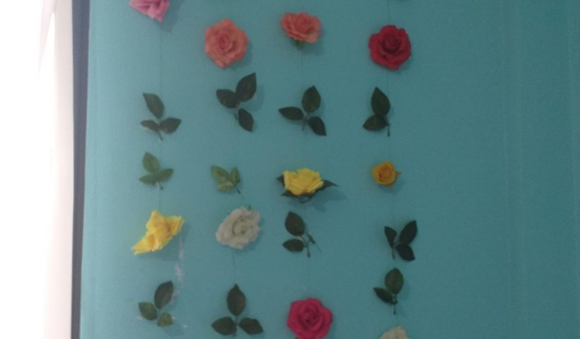 fn1hqdas45151 820x480 - Used some plastic roses to decorate my wall. - hobbies, crafts