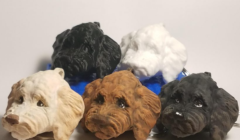 2czyt32tfic51 820x480 - 3D modeled, 3D printed, and handpainted these labradoodle keychains! - hobbies, crafts