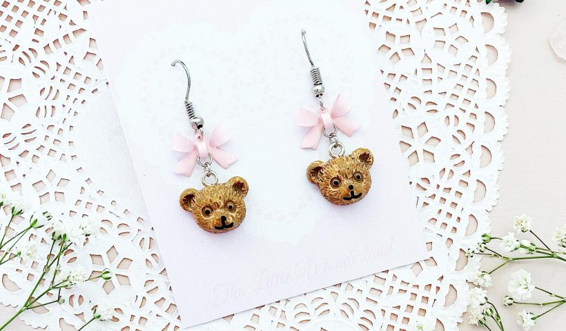 3c2qil1nxd751 820x480 - I made these cute little bear and bow earrings!!! 🐻🎀 - hobbies, crafts