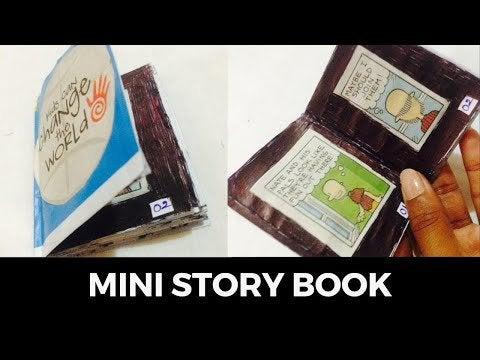 bzeE2OA0GEJhCl3ItlWldaXowOWQFEGuGjvO6a97NRo - DIY Mini Story Book one sheet of paper - DIY back to school - hobbies, crafts