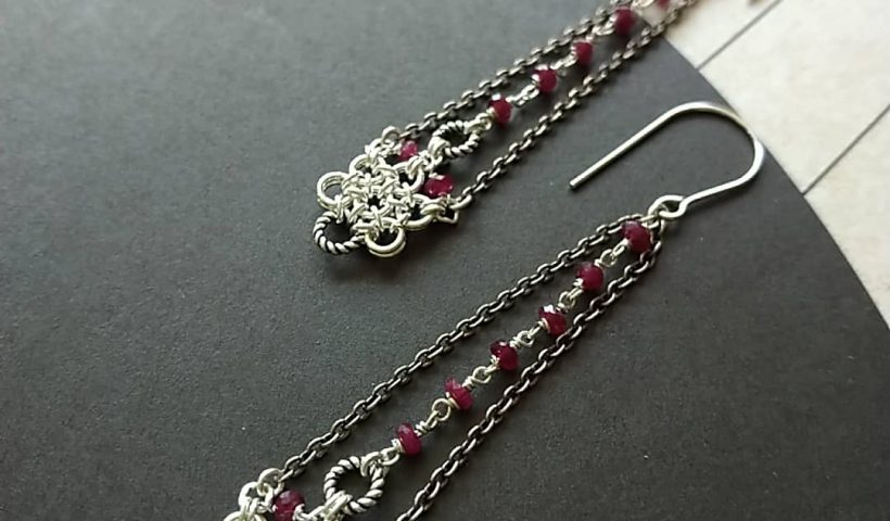 """c4blilcivh951 820x480 - Day 92 #100daysofjewelrycreating """"eternity"""" series - """" No. 7"""" earrings """"雋永"""" 系列 - """"No. 7"""" 耳環 #jumpringsjewelry #chainmailjewelry - hobbies, crafts"""
