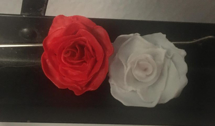 4b5i18jgxpe51 820x480 - 1st (red) and 2nd (white) attempts at making 3D pen roses. (Sorry for the semi-pixelated quality) - hobbies, crafts