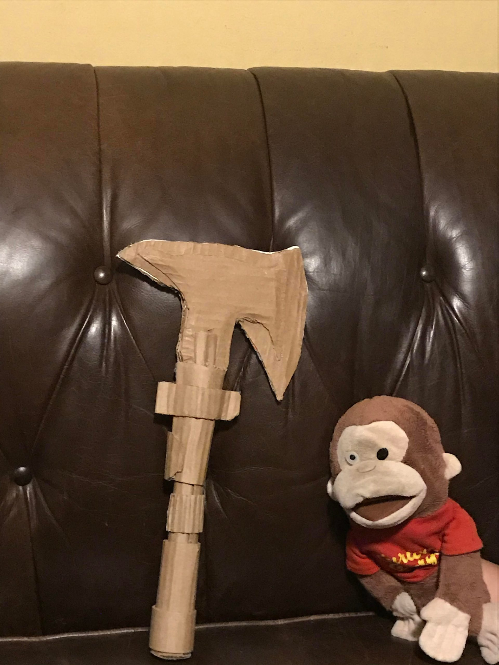 5v3t7k2ouoe51 scaled - CARDBOARD AXE I MADE, PLZ EXCUSE THE MONKEY - hobbies, crafts