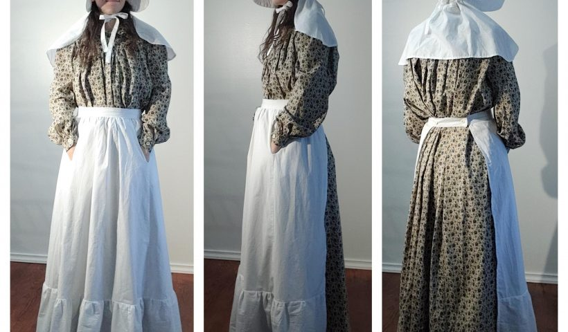 agc9zp0nr8j51 820x480 - 1850's (ish) Pioneer Dress - Historical Costume - hobbies, crafts
