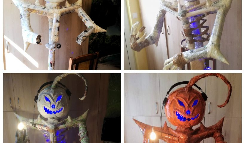 kszmcapakcj51 820x480 - I made this Halloween live-sized decoration out of old newspapers and magazines - hobbies, crafts