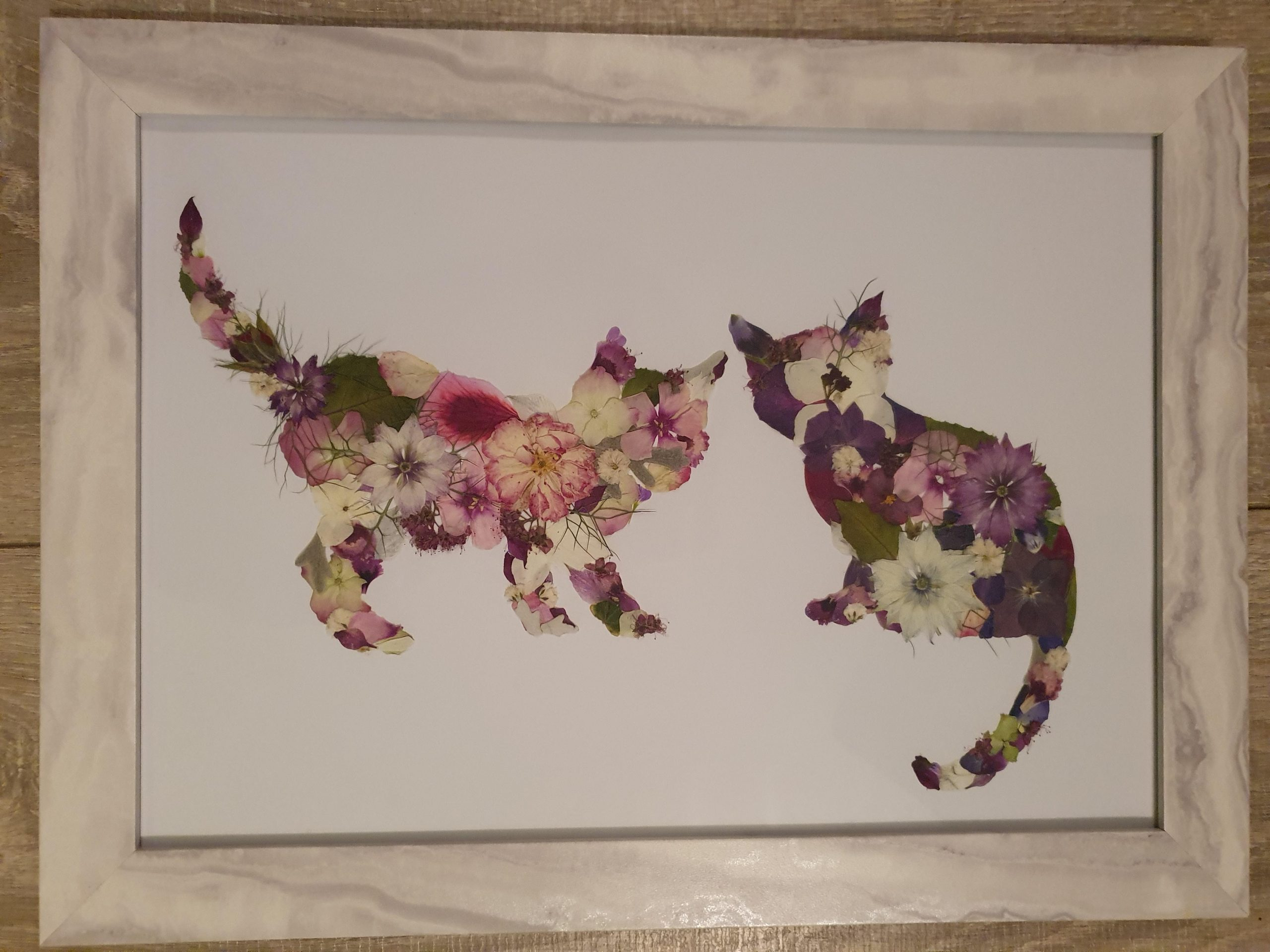 5u4wwvfxm6m51 scaled - My husband recently posted a picture of a flowery cat I made. This is my latest piece. - hobbies, crafts