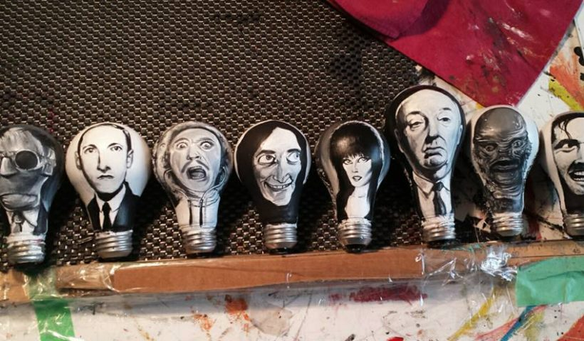 9hbnpftlq0p51 820x480 - Halloween Ornaments painted on burnt out light bulbs. ... work in progress. Can you identify each character? - hobbies, crafts