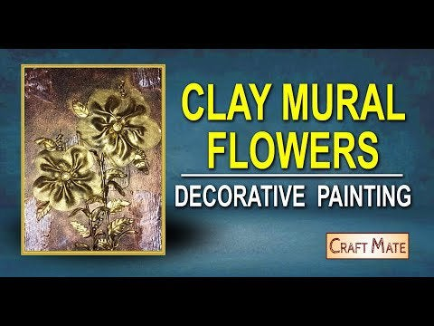 Iw2O4i50cEOKas9gTABgsVqULYpVOgLAC8VGyfBf9MA - Clay Mural Flower Painting (Antique Look) - hobbies, crafts