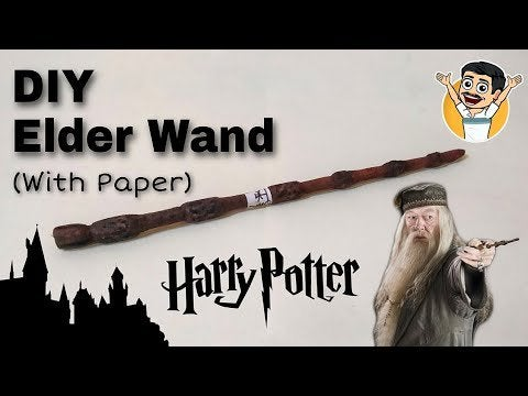 X isSOxFcw6ZT7v1WxPVRwRD4qTqkLlNDkwHydaWF4Q - DIY | Elder Wand | With Paper| Dumbledore | Harry Potter - hobbies, crafts