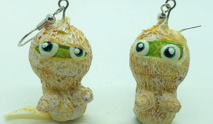 e9d58352kfm51 820x480 - I made little mummy earrings for Halloween. - hobbies, crafts