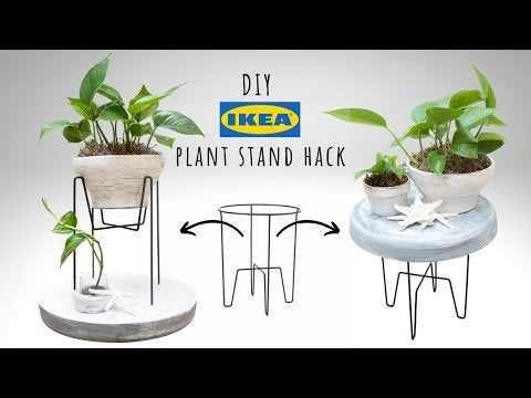 hd2EwxFuOSBK9tQ1X AdRi1kAH1sYWxETTI6bHJBveY - I used concrete and a little bit of chalk paint to transform the IKEA SVARTPEPPAR plant stand to look more of a rustic, de-stressed, and expensive plant stand. The steps I did to create it can be seen in the below video. Please let me know what you think and suggestions on how I can improve. - hobbies, crafts
