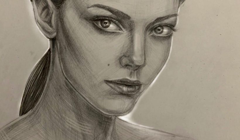 "q493w23skbm51 820x480 - ""Amanda"", pencil portrait by me - hobbies, crafts"