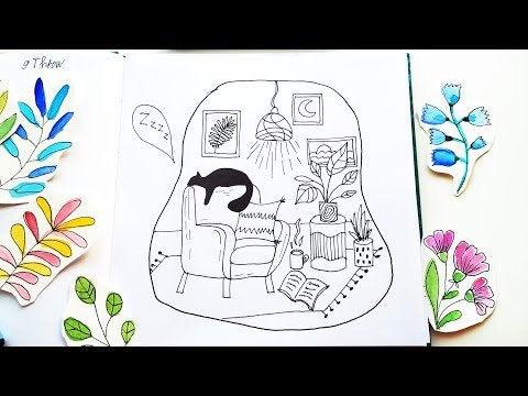 4D5BGTTAIXEAjwvecIAopcTUilg8 HigC  BwgZRZx8 - Easy Line Art Drawing Ideas - 2 Doodles Illustrations in Sketchbook  In... - hobbies, crafts