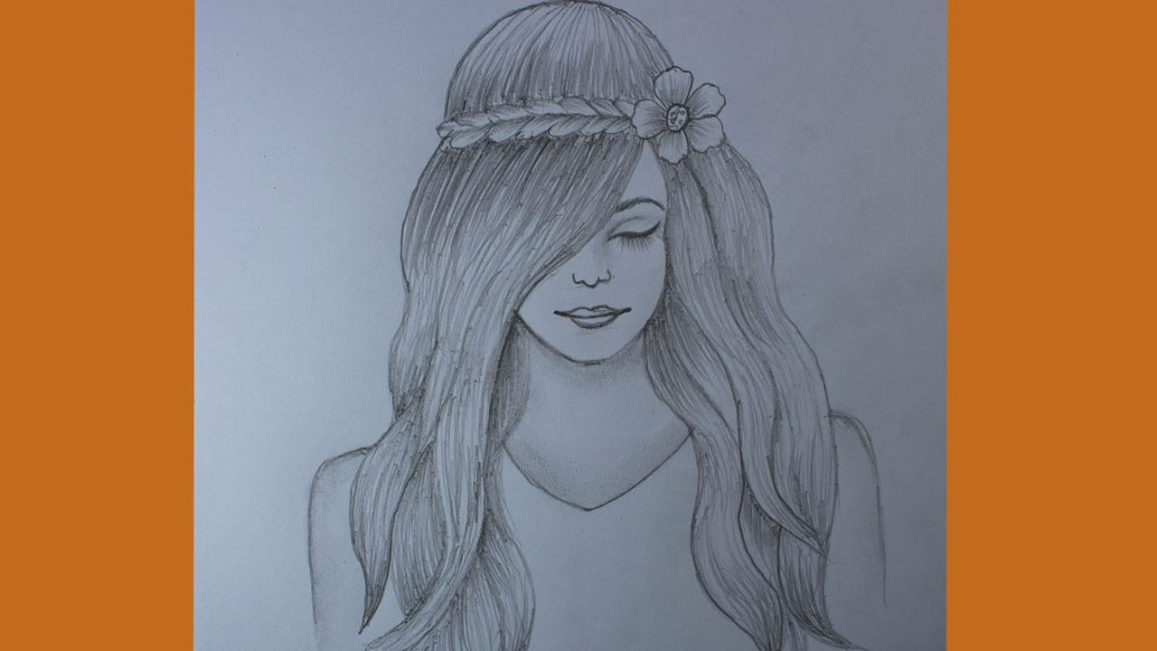 88d8iqtz25p51 - How to draw a girl with beautiful hair - home, hobbies