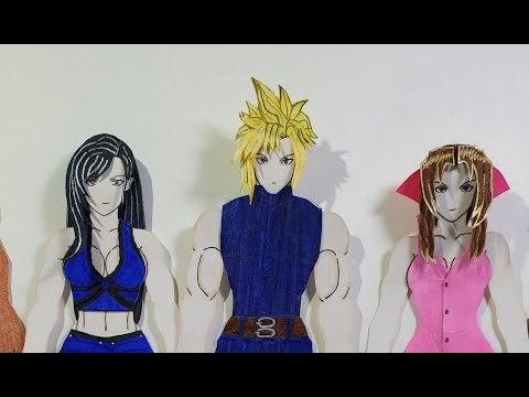 9qExaGRjxwepGz5JRD0qnhLaYix3Z FLtrVJIdrs 0U - FF7 People Paper Cloud Zack Tifa Aerith Berret FF6 Terra 2D paper figures - hobbies, crafts