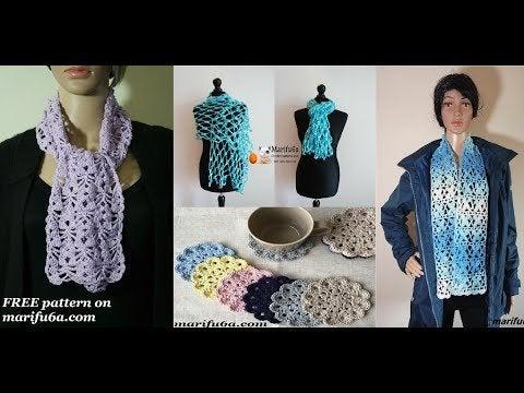 Bn3h4zHFxSi91gX L2DyiK6ZLVm8KpjOTfSQYkwafT4 - Free crochet scarf and coaster written patterns and video tutorials by m... - hobbies, crafts